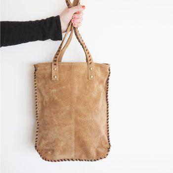 Suede shoulder bag | TradeAid