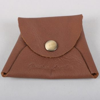 Brown leather coin pouch | TradeAid