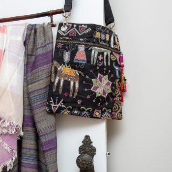 Mohenjodaro design embroidered bag   TradeAid