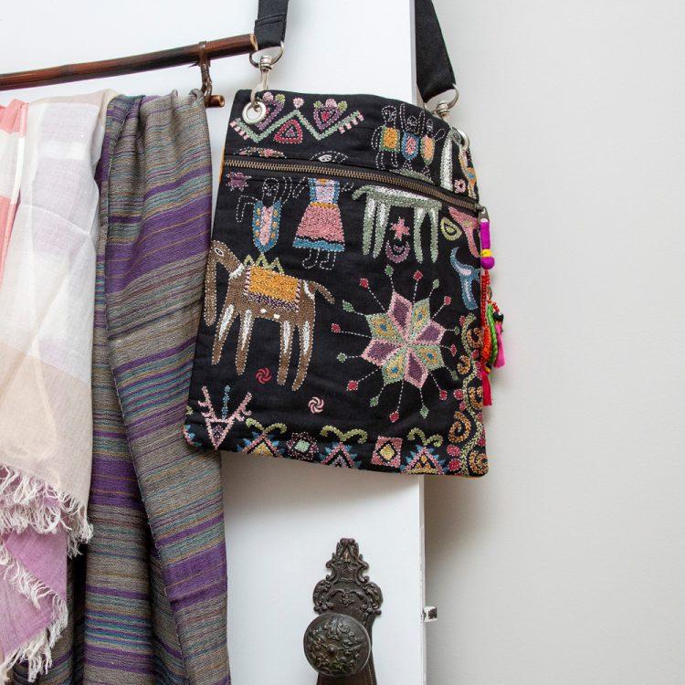 Mohenjodaro design embroidered bag | TradeAid