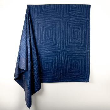 Navy and taupe bedcover   TradeAid