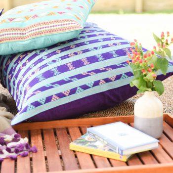 Blue cotton komal cushion cover | TradeAid