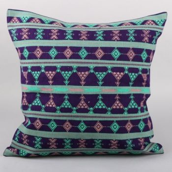 Blue cotton komal cushion cover | TradeAid