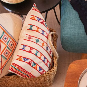 White cotton komal cushion cover | TradeAid