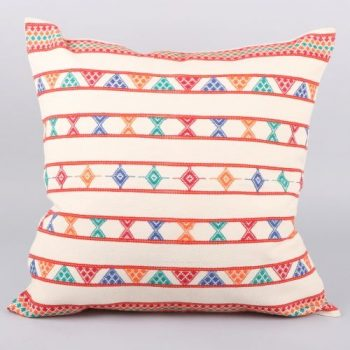 White cotton komal cushion cover | TradeAid