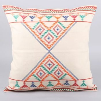White cotton flower cushion cover | TradeAid