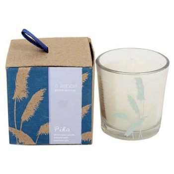 Piha ocean scented candle in glass pot | TradeAid