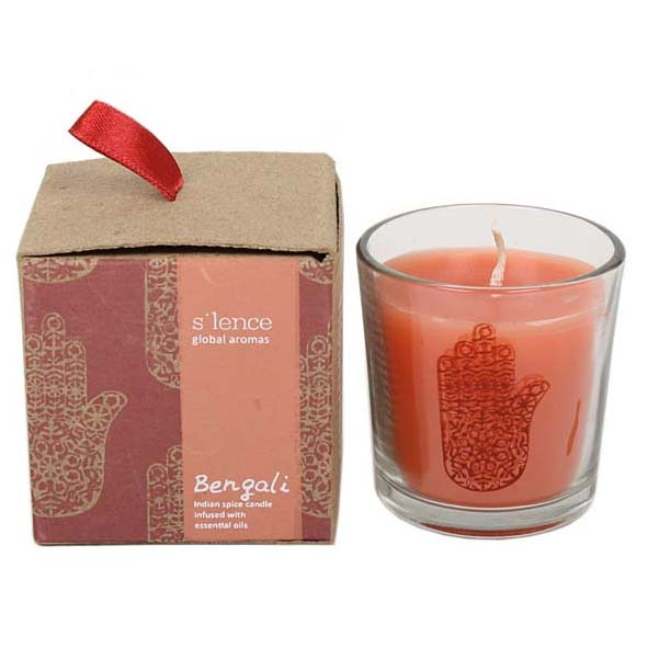 Bengali spice scented candle in glass pot | TradeAid