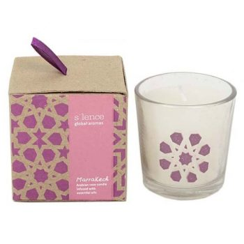 Small marrakech rose scented candle | TradeAid