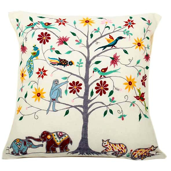 Bright tree of life cushion cover | TradeAid