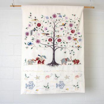 White tree of life wall hanging | TradeAid