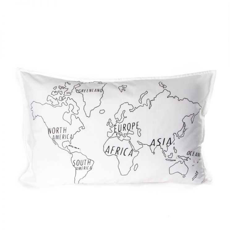 World map pillowcase | Gallery 1 | TradeAid