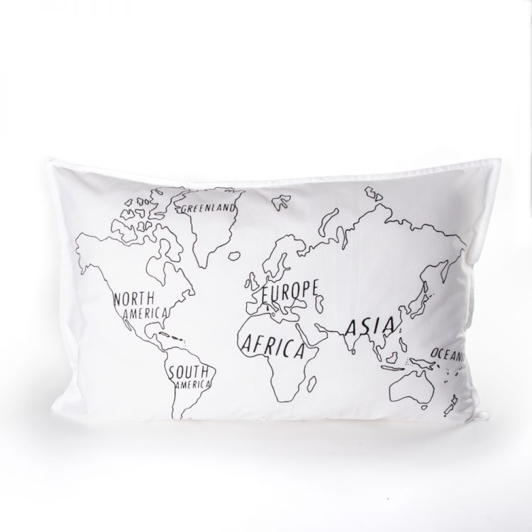 World map pillowcase   TradeAid