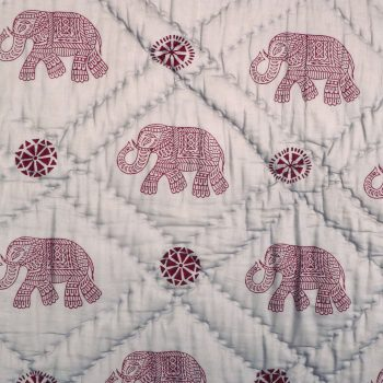 King quilt with elephant block print | Gallery 2 | TradeAid