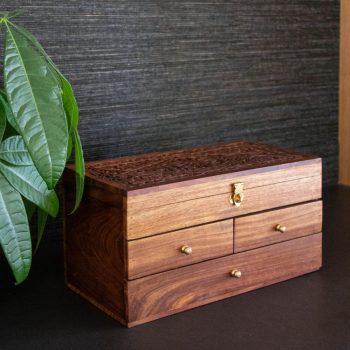 Three drawer sheesham wood box | TradeAid