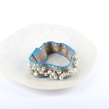 Ghungru with silver colour bells on blue zari | TradeAid
