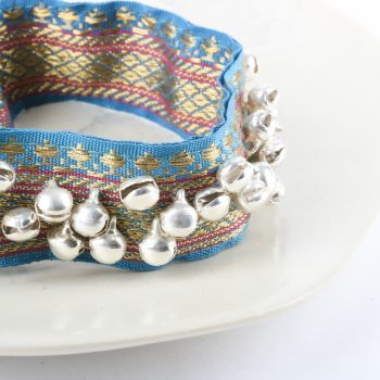 Ghungru with silver colour bells on blue zari | Gallery 1 | TradeAid