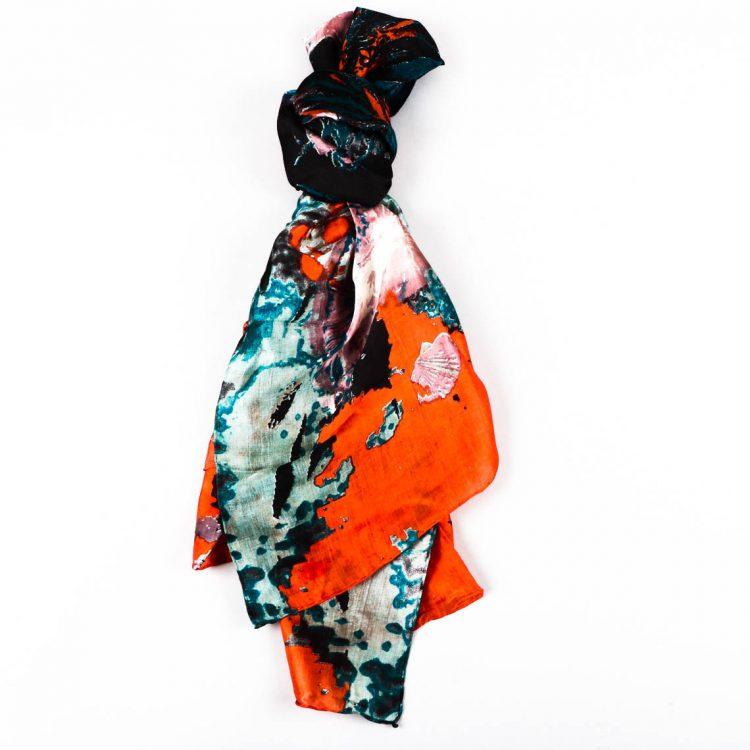 Seascape silk scarf | TradeAid