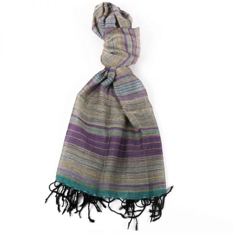 Grey and purple wool scarf | TradeAid