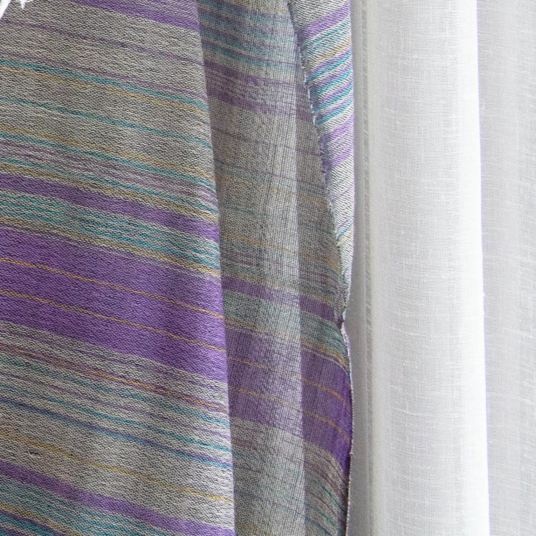 Grey and purple wool scarf | Gallery 1 | TradeAid
