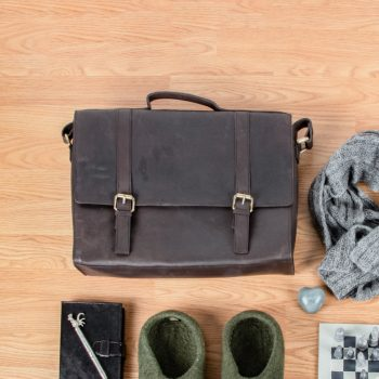 Brown hunter leather satchel | TradeAid