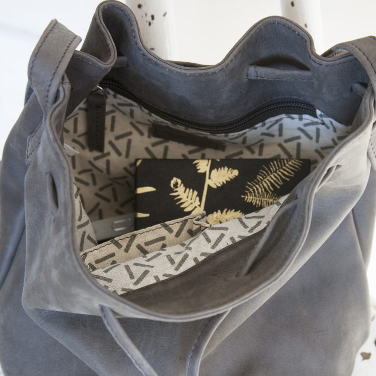 Leather drawstring shoulder bag | Gallery 1 | TradeAid