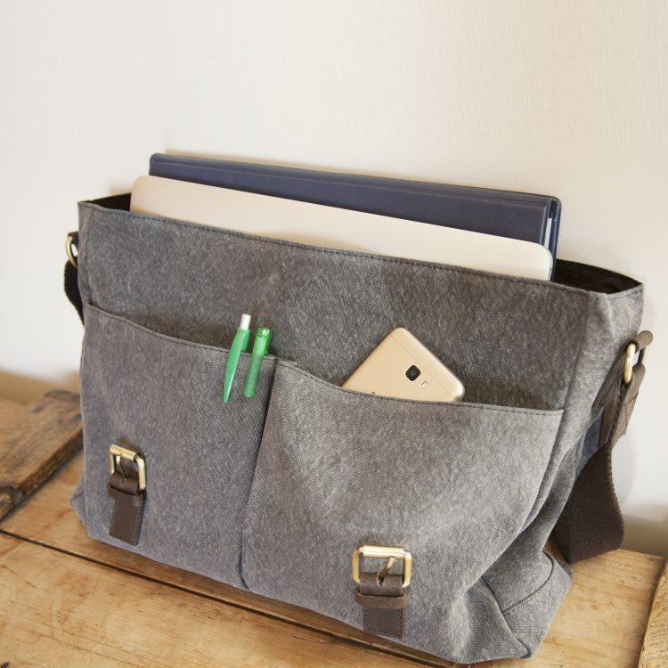 Stone canvas satchel | Gallery 1 | TradeAid