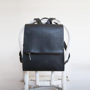 Black leather satchel bag | Gallery 1 | TradeAid