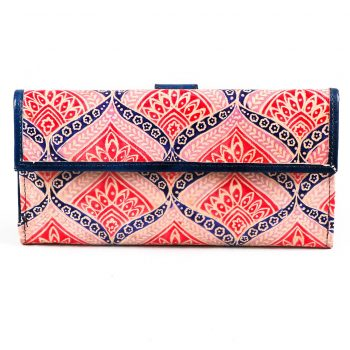 Floral design shanti leather wallet | TradeAid