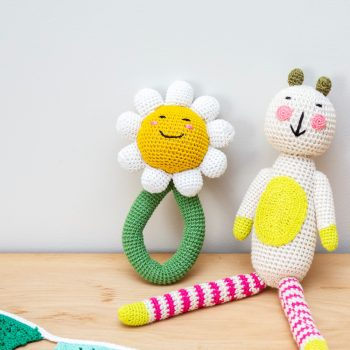 Crochet daisy rattle | TradeAid