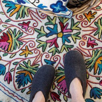 Floral numdha rug | TradeAid
