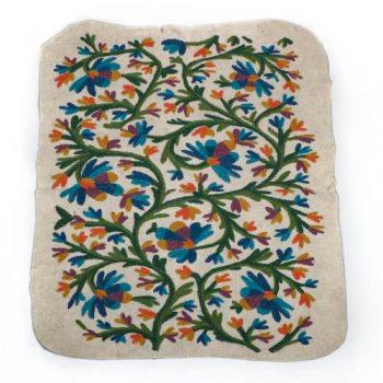 Blue and orange numdha rug | TradeAid