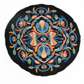 Multi coloured numdha rug | TradeAid