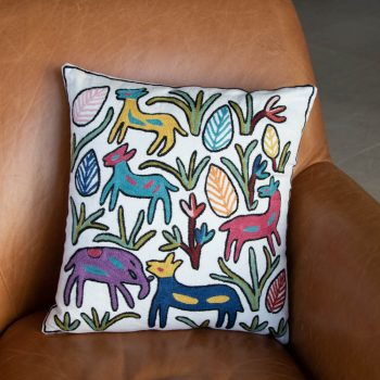 Colourful animal cushion cover | TradeAid