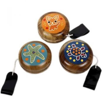 Wooden yoyo with animal designs | TradeAid