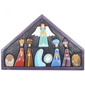9 piece painted nativity puzzle | TradeAid