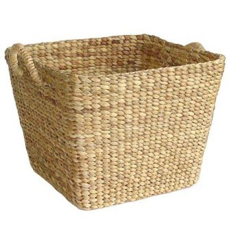 Square storage water hyacinth basket | TradeAid