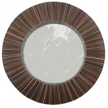 Round mirror with cocorib frame | TradeAid