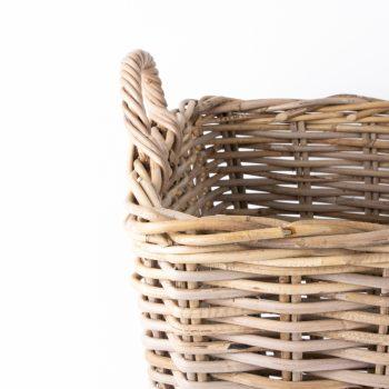 Large grey rattan laundry basket | Gallery 1 | TradeAid