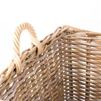 Grey rattan laundry basket with handles | Gallery 1 | TradeAid
