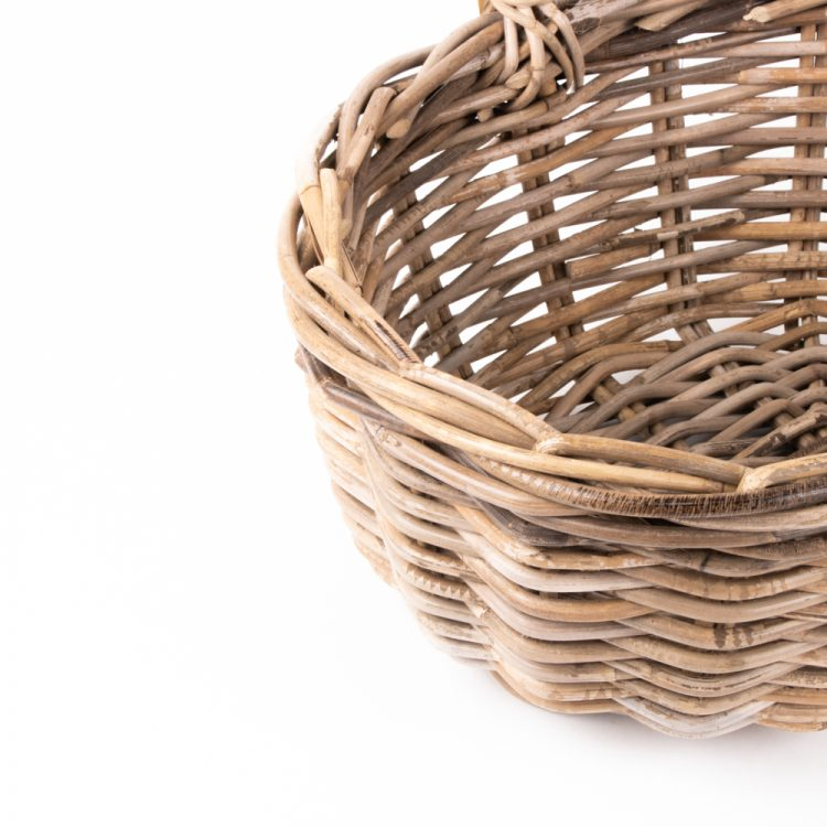 Grey rattan oval shopping basket with handles | Gallery 1 | TradeAid
