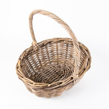 Grey rattan oval shopping basket with handles | Gallery 2 | TradeAid