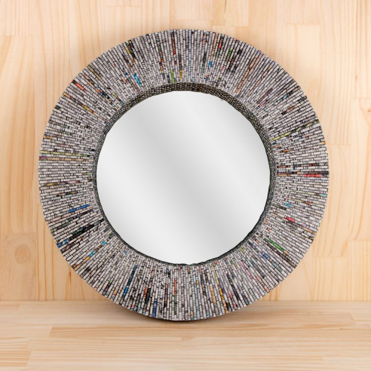 Recycled paper mirror | TradeAid