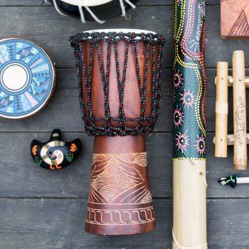 Large jimbee gendange drum   TradeAid