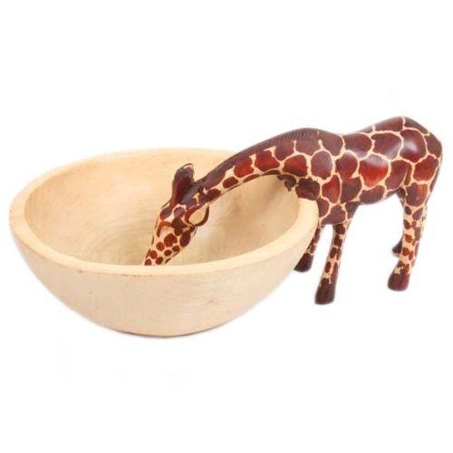Wooden giraffe bowl   TradeAid