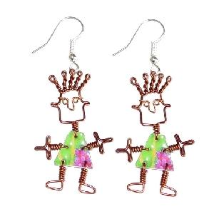 Dancing figure earrings | TradeAid