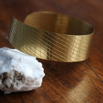 Brass textured cuff | TradeAid