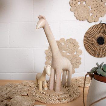 Giraffe and baby sculpture | TradeAid