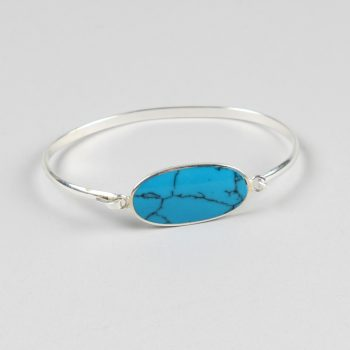 Bangle with oval stone | TradeAid