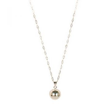 Silver plated necklace with round bell pendant | TradeAid